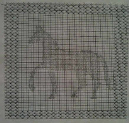 Knit Dishcloth Pattern Horse : Knit Design Dishcloth - Elnas Equine Art